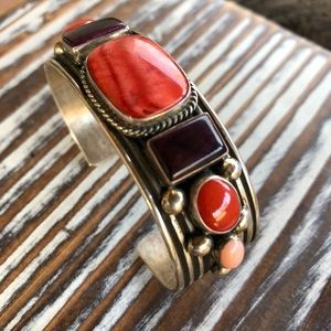 Jewelry - Albert Jake Spiny Oyster & Sterling Navajo Cuff